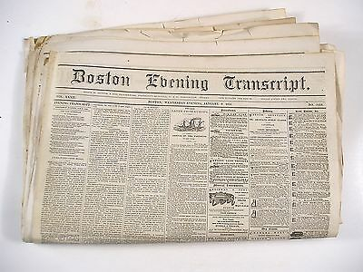 23 Issues of the Boston Evening Transcript from Jan. to Feb., 1861