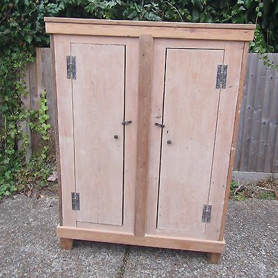 Old Solid Pine Cupboard with Shelves