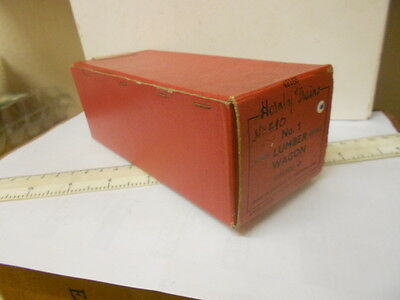 Hornby O Gauge Postwar Empty Wagon Box In Good Condition - No.3 - All Flaps Ok
