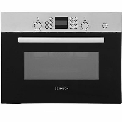 New Graded Bosch HBC84H501B Serie 6 Microwave 44L Built In 900W Brushed Steel