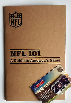 NFL a guide to America's Game + NFL 2016 Pin