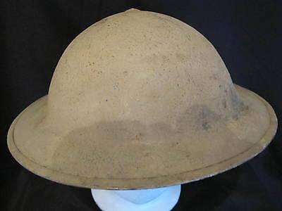 British North Africa Campaign Combat Helmet - Wartime Dated