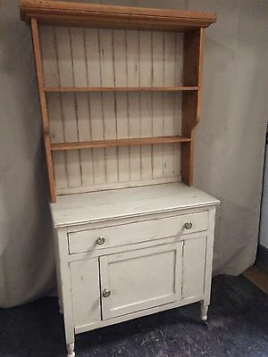 Small Painted Pine Kitchen Dresser