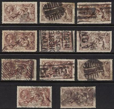 Great Britain Sc# 179 X11 Used Half Crowns
