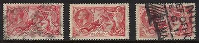 Great Britain Sc# 174 X3 Used 5 Shillings