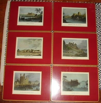 6 Pimpernel DeLuxe Finish Welsh Castles Place Mats 0010560185