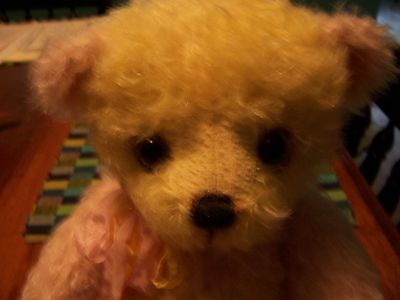 Lower Price Riffenberg Bear Lemon Twist Mohair Made In The Usa, Mint Condition