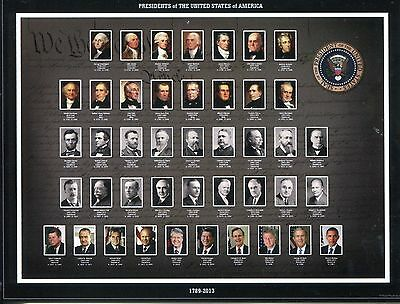 Post Card Of The Presidents Of The United States From Washington To Obama