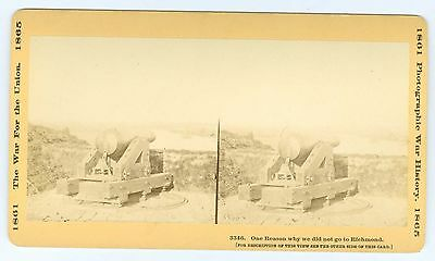 J1395~ Confederal Cannon in Fort Darling James River Nr Richmond Virginia Stereo