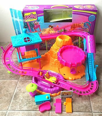 Polly Pocket Rollercoaster Resort Incomplete W/ Box Waterpark Hotel