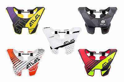 New 2017 Atlas Air Adult Neck Brace Motorcross Mx Bmx Cheap Mtb Support Enduro