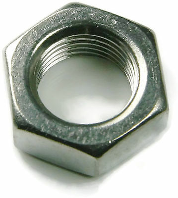 Hex Jam Thin Nut Left Hand Reverse Thread Stainless Steel UNF 3/8-24, Qty 25