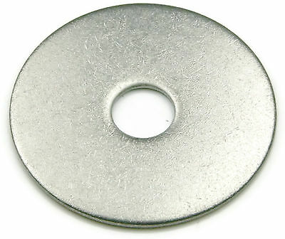 """Stainless Steel Fender Washer 3/8 x 2"""", Qty 100"""