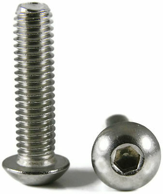 "Button Head Socket Cap Screw Stainless Steel Screws UNC #2-56 x 1/8"" Qty 100"