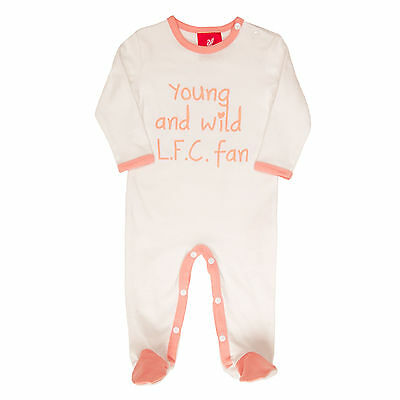 Liverpool FC  LFC Pink Slogan Baby Grow Official