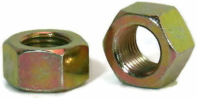 "Hex Finished Nuts Grade 8 Yellow Zinc UNC - 3/8""-16 - Qty-100"