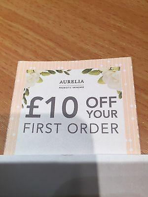 AURELIA SKIN PRODUCTS £10 Off First Order     Valid To End January 2017