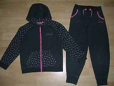 MCKENZIE Girls Dark Grey Lounge Track Suit Jogging Matching Outfit Age 7-8 128cm