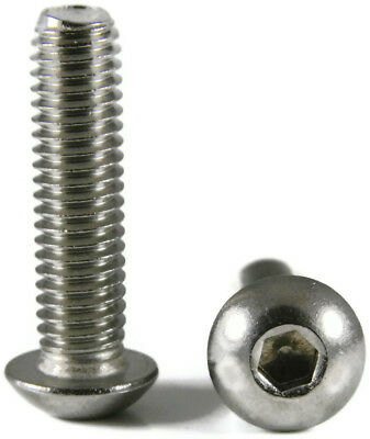 """Stainless Steel Button Socket Head Screws #10-24 x 1"""" QTY 100"""