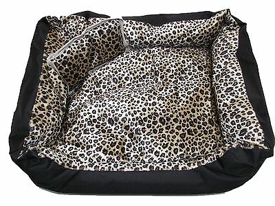 X Display Satin Soft Pet Bed Clearance - Cat Print - X-Large
