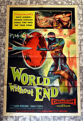 WORLD WITHOUT END * Marlowe, Rod Taylor - US 1-SH POSTER 27x41inch -1956 SCI-FI