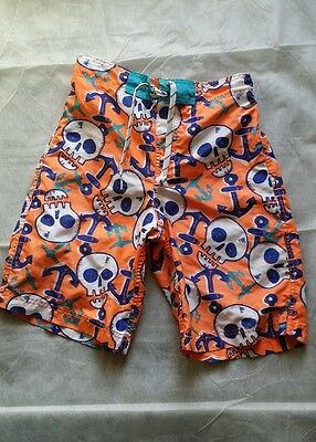 boys size 14 Children's Place Swim Shorts Summer Orange Skull and anchor