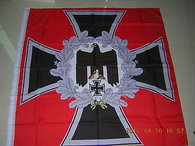 German Reich Heeresfahne Infanterie Eagle Cross Flag Weimar Republic Red Ensign