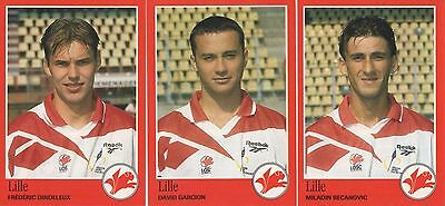 "Lot 3 vignettes football PANINI ""FOOT 97""  LILLE"