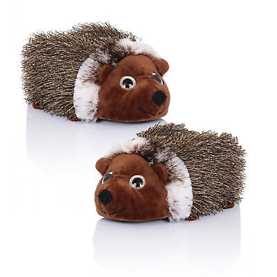 Loungeable Boutique Womens Girls New 3D Plush Henry Hedghog Animal Slippers