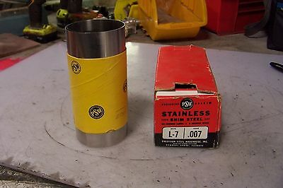 """New Precision Brand L-7 Stainless Steel Shim Gage .007 6"""" Wide 50"""" Long"""