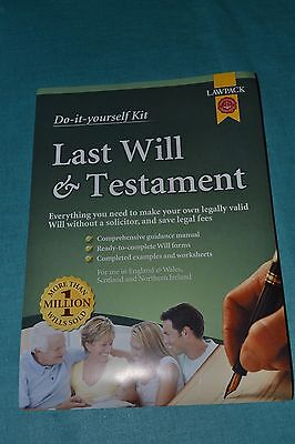 Last Will and Testament Kit Limited Edition Twinpack by Lawpack Publishing...