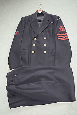 Vintage Royal Navy Chief Petty Officer RNR Uniform With Medal Bar & Insignia