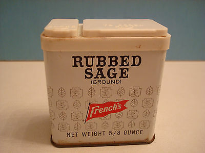 Vintage French's Rubbed Sage Spice Tin