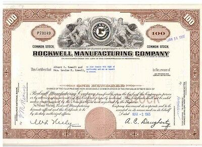 Lot: 10 Rockwell Manufacturing Company