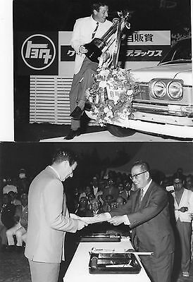 Original Golf Photograph X 2 Peter Thomson Winner Crowns Tournament Japan