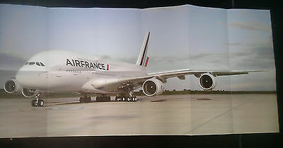 Poster / Dépliant AIRBUS A380 Air France