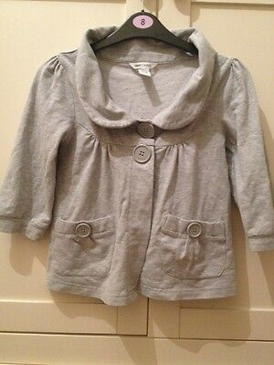 H&m Young Grey 3/4 Smart Party Button 60s Style Light Jacket Cardigan Coat