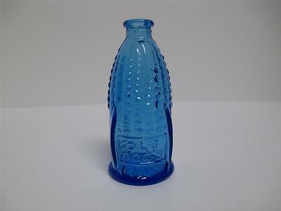 Wheaton Glass BLUE Vintage Miniature Old Doc's Cure CORN Bitters Bottle USA