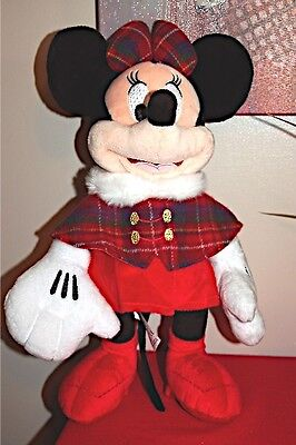 Disney Store Christmas 2013 Minnie Mouse Collectable Plush New/w/tags