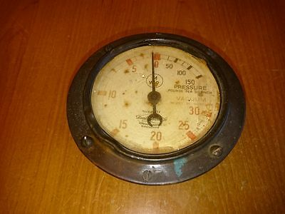 Fire Brigade Vintage Compound Gauge. Fire Pump. Gauge. No Reserve