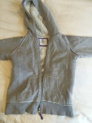 girls Boden grey hooded jacket age 9-10