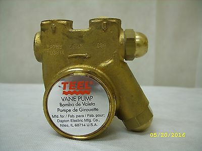 TEEL - Brass Rotary Vane Pump 3P755 / PO301X *NOS* No Box