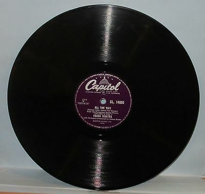 "Classic FRANK SINATRA 78 ""ALL THE WAY - CHICAGO"" 1957 No.3  Ex"
