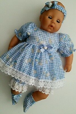 """Baby Annabell Re/born Type 15 / 19 """" Dolls Clothes Handmade"""