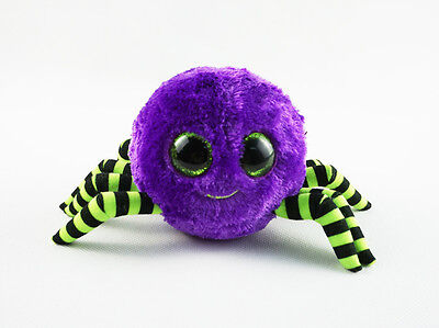 """6"""" TY Beanie Boos Animal No Fabric Lable Crawly Spider New Plush Stuffed Toys"""