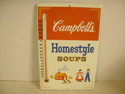 Collectible Advertising Metal Thermometer Cambell's Homestyle Soups Country Look