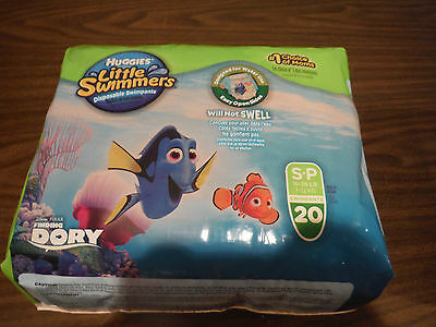 NEW HUGGIES LITTLE SWIMMERS Disposable Swimpants Small 20 Pack (16-26 lbs)