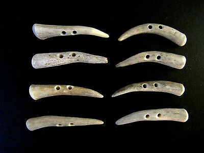 """Antler Buttons,2  1/4""""toggles,tines,shearling Coats,crafts,8 Nice Pieces,214-3"""