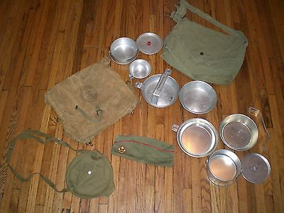 Lot of Vintage Boy Scouts of America Day Hike Bag Mess Kit Hat National Council