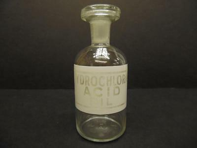 Vintage Hydrochloric Acid Dil Glass Laboratory Apothecary Reagent Bottle (#29)